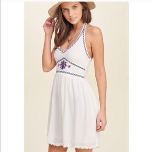 NWT holister dress halter embroidered